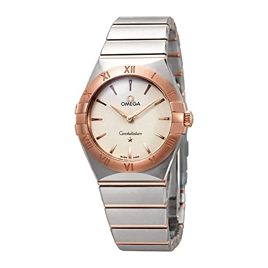 Omega Constellation Manhattan 131.20.28.60.02.001 - Reloj de Pulsera para Mujer, Esfera Plateada, Color Blanco: Amazon.es: Relojes