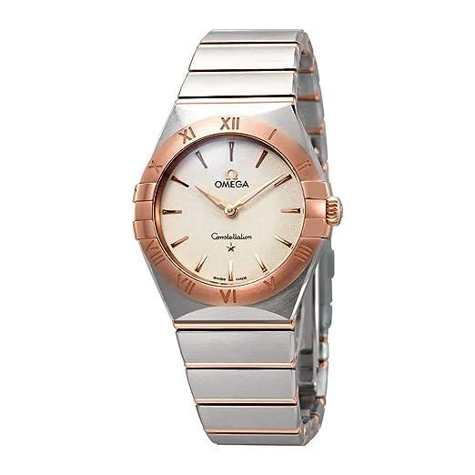 Omega Constellation Manhattan 131.20.28.60.02.001 - Reloj de Pulsera para Mujer, Esfera Plateada, Color Blanco: Amazon.es: Relojes
