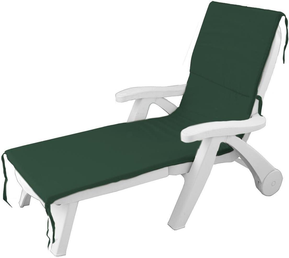 Morbidissimi Cuscino per Lettino Prendisole materassino da Esterno Unito 60x190 cm P499 Verde