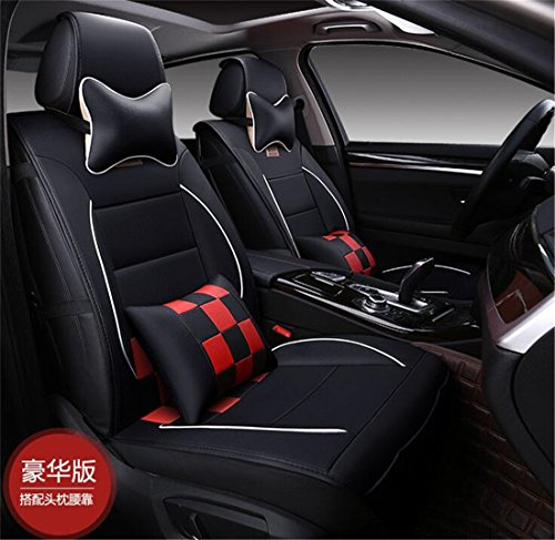 Ice-man PU Leather Universal Car Seat Cushion Cover For Toyota Camry Corolla 4Runner Harrier Prius Hilux Highlander Crown RAV4 Tundra Yaris Eco Solara 5 Seats (Harrier Leather)