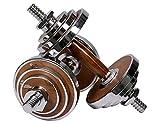 PROIRON Dumbbell Set Walnut-Steel Designed Dumbbells Set 20kg Adjustable Dumbbell Weights For Gym Office Home (Pair)