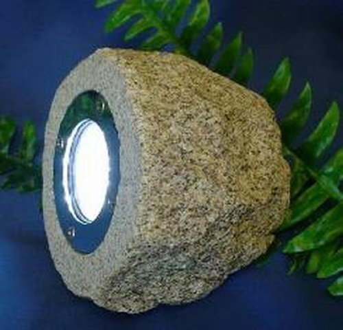Real Granite Submersible 36 LED Rock White Light by Fountain Emporium