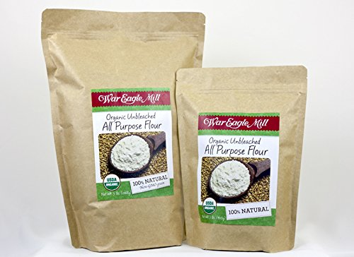War Eagle Mill Organic Unbleached All Purpose Flour in a resealable bag (2 lbs)