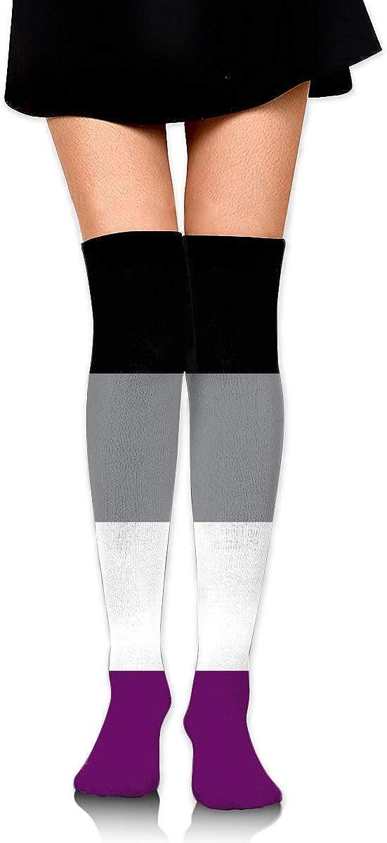 Dress Socks Flags Jamaica Long Knee Hose Soccer Hold-Up Stockings For Exercise
