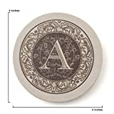 Thirstystone Absorbent Sandstone Monogram Coaster Set