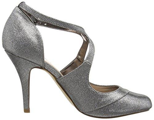 Miss KGNatalie - Zapatos de Tacón mujer Plateado (Gunmetal)