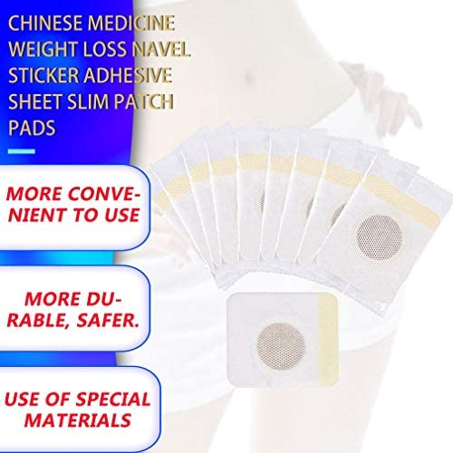 BlackEdragon Chinese Medicine Weight Loss Navel Sticker Adhesive Sheet Slim Patch Pads