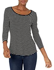 Amazon Essentials Solid 3/4 Sleeve Scoopneck Tunic Vrouwen Tuniek Shirt