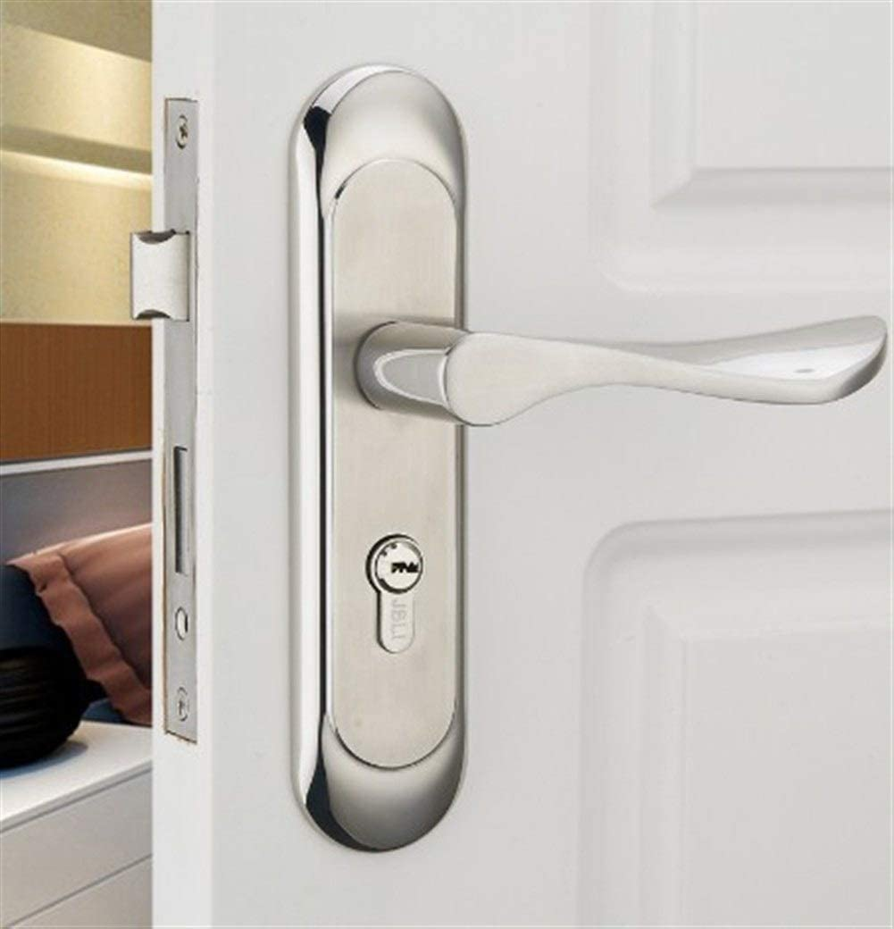 SHANG-JUNS Easy Installation Effective Stainless Steel Door Handle Mortise Lock with Cylinder and Key Stainless Steel
