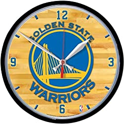 Wincraft NBA Golden State Warriors Round Wall Clock, 12.75