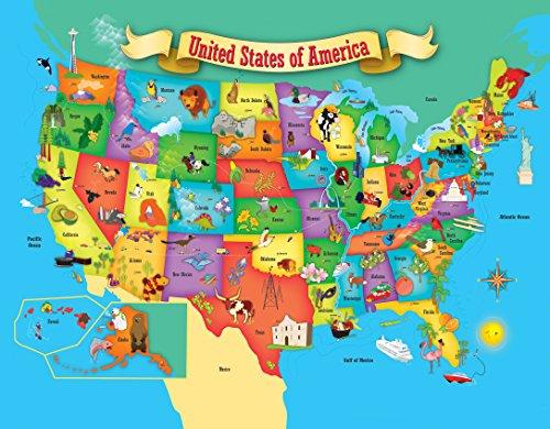 51zPr%2BoqDBL - MasterPieces Explorer Kids - USA Map - 60 Piece Kids Puzzle