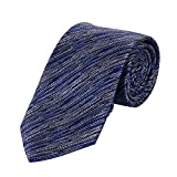 MERIT OCEAN Fine Stripe Smooth Formal Suit Necktie for Men