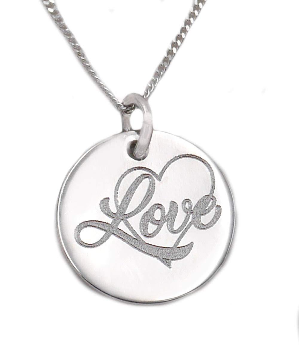 ORNARA Damen Kette LOVE Schriftzug Herz 925 Geschenkidee Valentinstag