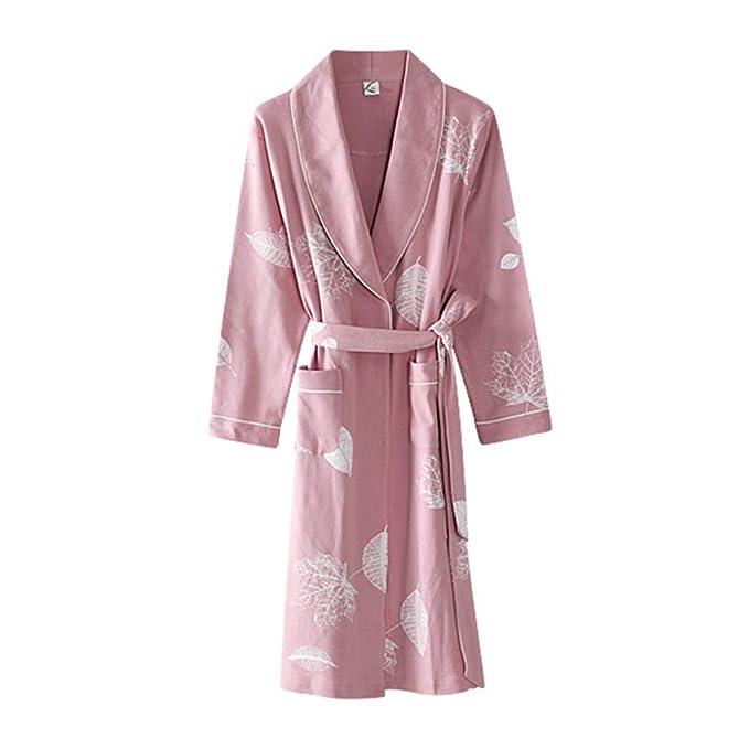 Bata Impresa para Mujer Albornoz Camisón De Manga Larga Hembra Otoño Kimono Inicio Ropa De Dormir Ropa De Dormir: Amazon.es: Ropa y accesorios