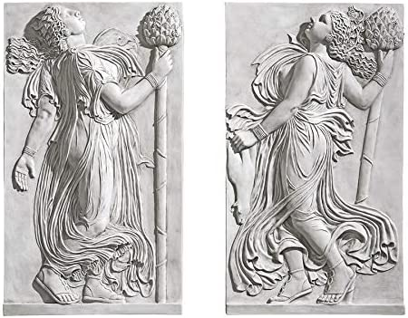 Design Toscano Dancing Thyrsus Left Right Wall Two Greek Maenads Friezes Set