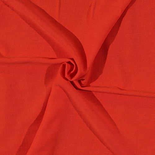 - Cotton Gauze Orange Fabric by the Yard (6300H-11KOrange)