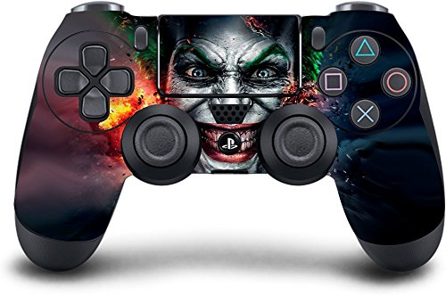 (Joker) PS4 Modded Wireless Controller Exclusive Custom Design w/Extreme Features: Rapid Fire, Auto Burst, Jump Shot, Auto Spot and more (Best Modded Controller Site)