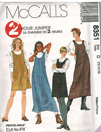 - 8351 McCalls Sewing Pattern UNCUT Misses Pullover A Line Jumper 2 Hour Size 8 10 12