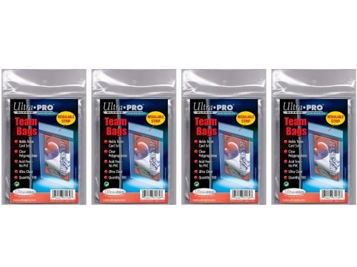 400 Ultra Pro Standard Team Bags 4 Packs of 100 New Team...