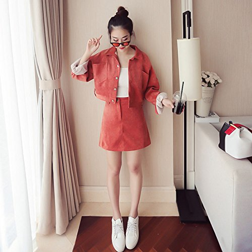 GAOLIM Goddess Suit Half-Length Skirt Female Winter Wicker Two-Piece Suit ed290da7bc4