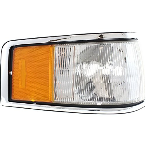 Corner Light compatible with Lincoln Lincoln Town Car 90-94 Corner Lamp RH Lens and Housing Right Side ()