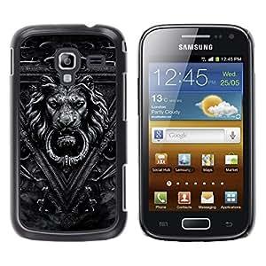 MOBMART Carcasa Funda Case Cover Armor Shell PARA Samsung Galaxy Ace 2 - Crafted Man-Lion Gray Image