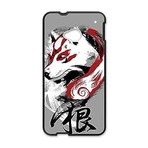 JIANADA Red White Wolf Black HTC M7 case