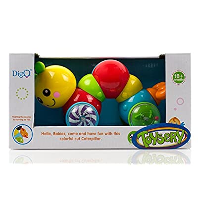 Toysery Press N Go Caterpillar Baby Toy for Children & Kids Boys and Girls (No Batteries Required): Toys & Games