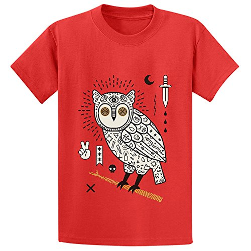 Hypno Owl Teen Crew Neck Short Sleeve T Shirts (Schmidt Beer Glasses)
