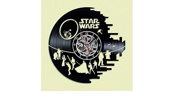 Star Wars Darth Vader Reloj de pared de disco de vinilo ...