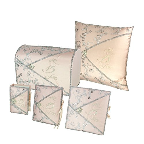 DivaDesigns Quinceañera Accessory Set Bible Guest Book Photo Album Gift Box Kneeling Pillow - Light Pink 200