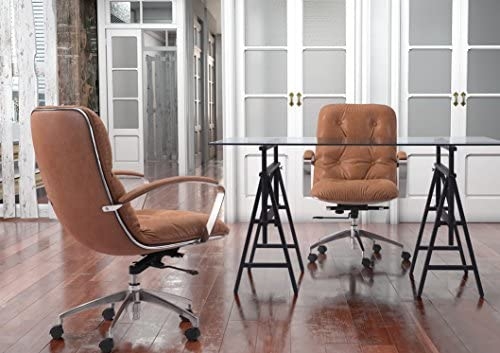 Zuo Avenue Office Chair, Vintage Coffee