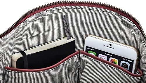 """Bolso Bandolera de Cuero Gusti Leder """"Zahara"""" Shopper Bolso de Mano Asas Compras Cuero de Búfalo Marrón 2M45-29-1 Burdeos - 2M45-29-3"""