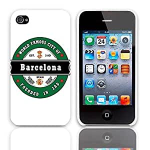 SJT Barcelona Design Hard Cover with 3-Pack Screen Protectors for iPhone 4/4S