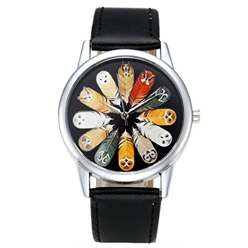 Top Plaza Leather Fashion Watch Black