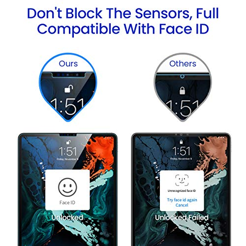 Ainope?2 Pack Screen Protector Compatible ipad pro 11, [Face ID Recognition] Tempered Glass Screen - coolthings.us