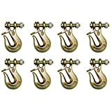 B/A Products 8 Pack 3/8'' Grade 80 Twist Lock Clevis Grab Hook