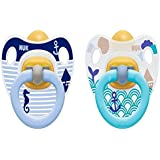 NUK Boy Latex Soother Happy Kids, 6-18M