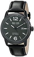 SO&CO New York Men's 5011L.3 Madison Analog Display Quartz Black Watch from SO&CO MFG