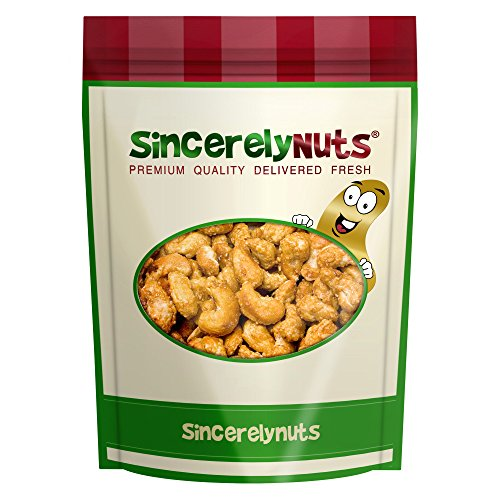 Sincerely Nuts Toffee Cashews Whole - One Lb. Bag - Seriously Scrumptious - Sealed for Freshness - Healthy Nutrients (Butter Toffee Cashews)