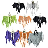 Lzttyee Halloween Hanging Skull Ghost Decoration Scary Party Props for House Home Party Garden and Bars (Random Color) (8PCS)