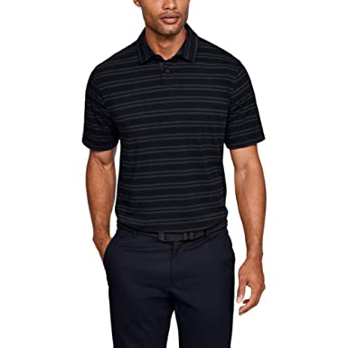 Under Armour CC Scramble Stripe Camisa Polo, Hombre, Negro, LG ...