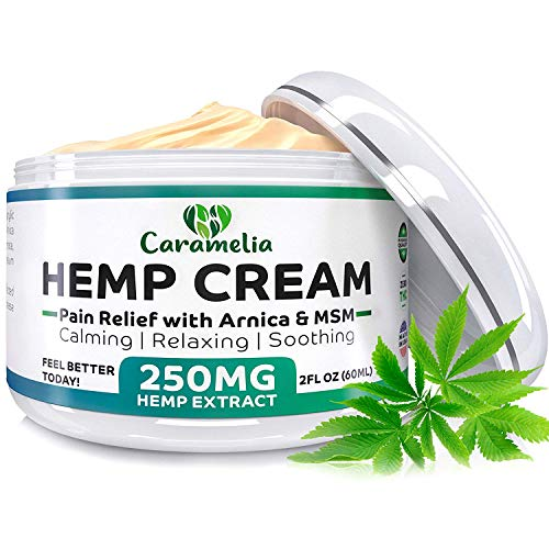 Muscle Pain Inflammation (Hemp Extract Cream - 250 Mg - Made in USA - Natural Hemp Pain Relief Cream for Inflammation, Muscle, Joint, Back, Knee & Arthritis Pain - Hemp Salve Contains Arnica, MSM & 10% EMU Oil - Non-GMO)