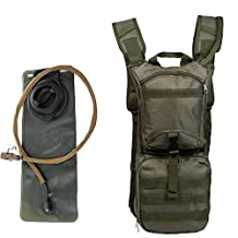 SUNVP Military Tactical Hydration Pack Backpack with 3L Water Bladder Bag for Cycling Climbing Running Hiking Riding Camping