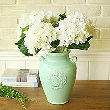 Molyveva 5 Bunches Faux Artificial Silk Fake Floral Flower Bouquet Hydrangea Party Decor Craft