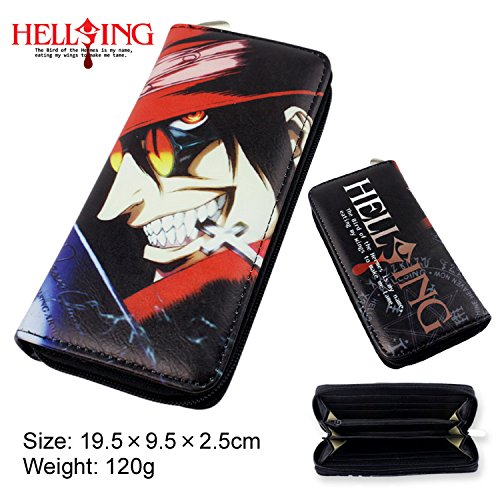 Price comparison product image DIY YOUR WORLD Anime Hellsing Cut Cartoon unisex Wallet Girl Boy Students Long Purse (Hellsing)
