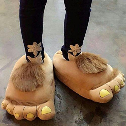 Ea @ Market Cartoon Creatieve Grote Voeten Winter Katoenen Pluche Pantoffels