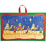 Entertaining with Caspari Christmas Flat Advent Calendar, Three Wise men, 1-Count
