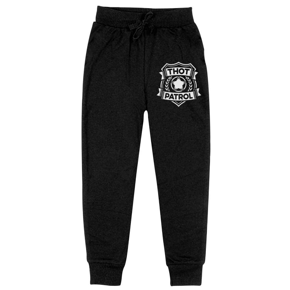 AolaZW Thot Patrol is On The Case Cotton Sweatpants Unisex Kids Casual Long Sport Pants