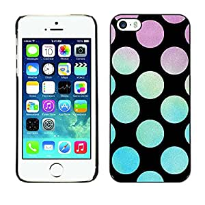 [Neutron-Star] Snap-on Series Teléfono Carcasa Funda Case Caso para iPhone 5 / 5S [Dot trullo Púrpura Azul Negro]
